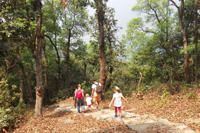 Family Trekking in Nepal.