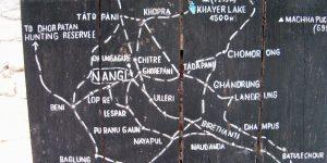 Khopra Trek Map - Aroma Nepal Treks