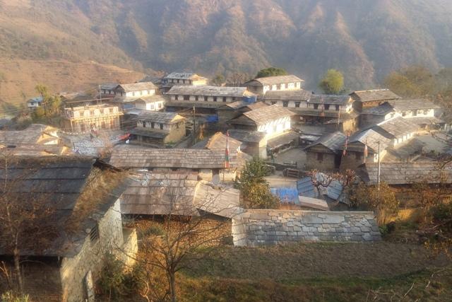 Typical Ghandruk Village - Nepal